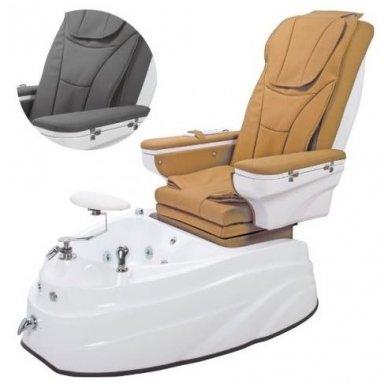 SPA pedikiūro krėslas su masažo funkcija, rudos/juodos sp.