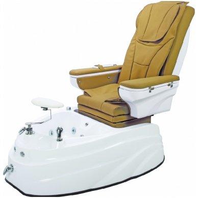 SPA pedikiūro krėslas su masažo funkcija, rudos/juodos sp. 2