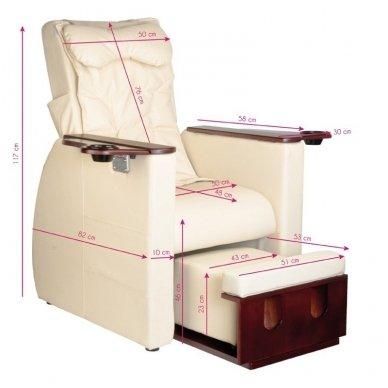 SPA, pedikiūro krėslas AZZURRO su masažo funkciją, BEIGE sp. 6