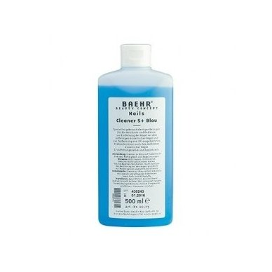 Specialus nagų valiklis gelio procedūroms Cleaner 5 + Blau, 500 ml