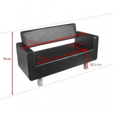 Laukiamojo sofa GABBIANO TURYN, juodos sp. 2