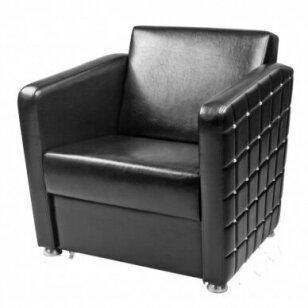 Stilingas kirpyklos laukiamojo fotelis MOON, juodos sp.