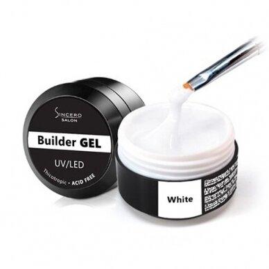Statybinis gelis, Sincero Salon, White, 15ml