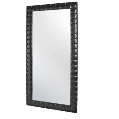 Stilingas kirpyklos veidrodis MOON, juodos sp.