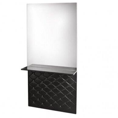 Stilingas kirpyklos veidrodis su lentyna MOON, juodos sp.