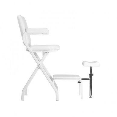 Sulankstoma kosmetologinė/pedikiūro kėdė P611, baltos sp. 2