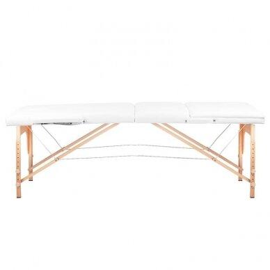 Sulankstomas 3 dalių masažo stalas, baltos sp. 2