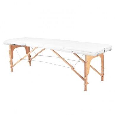 Sulankstomas 3 dalių masažo stalas, baltos sp.