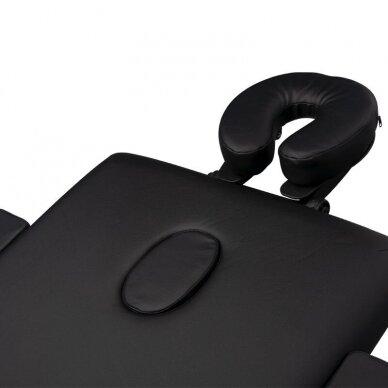 Sulankstomas 3 dalių masažo stalas, juodos sp. 4