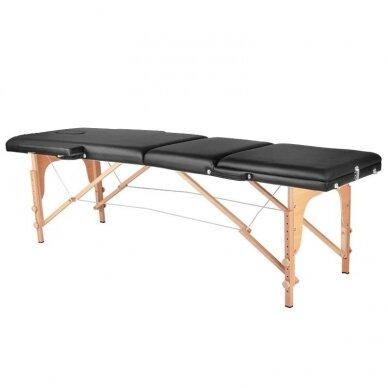 Sulankstomas 3 dalių masažo stalas, juodos sp.