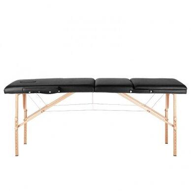 Sulankstomas 3 dalių masažo stalas, juodos sp. 2