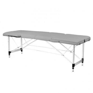 Sulankstomas 3 dalių masažo stalas KOMFORT 3, pilkos spalvos
