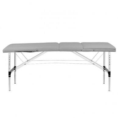 Sulankstomas 3 dalių masažo stalas KOMFORT 3, pilkos spalvos 5
