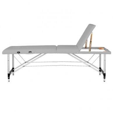 Sulankstomas 3 dalių masažo stalas KOMFORT 3, pilkos spalvos 3