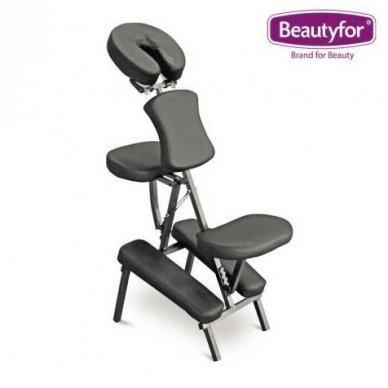 Sulankstomas masažo kėdė, juodos sp.