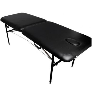 Sulankstomas masažo stalas COMFORT AT-001, juodas