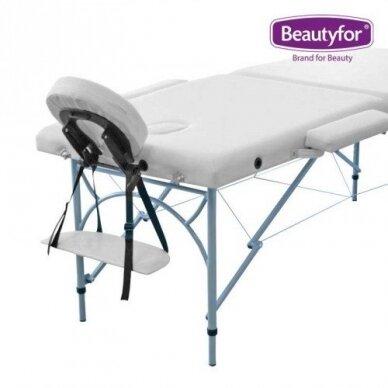 Sulankstomas masažo stalas su aliuminio rėmu FMA253K, 2 dalių,baltos sp. 2