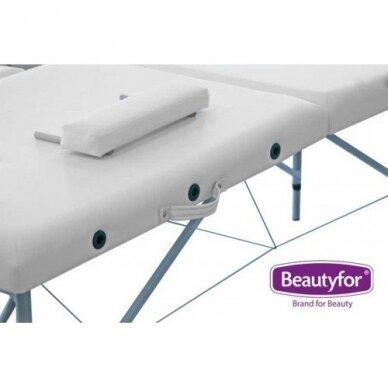 Sulankstomas masažo stalas su aliuminio rėmu FMA253K, 2 dalių,baltos sp. 3