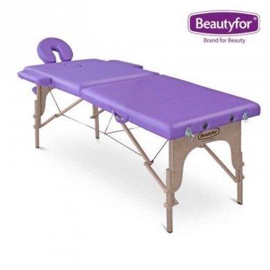 Sulankstomas masažo stalas su mediniu rėmu Beautyfor 6