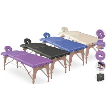 Sulankstomas masažo stalas su mediniu rėmu Beautyfor 2