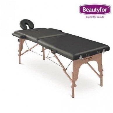 Sulankstomas masažo stalas su mediniu rėmu Beautyfor