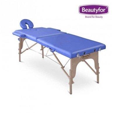 Sulankstomas masažo stalas su mediniu rėmu Beautyfor 4