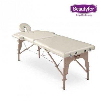 Sulankstomas masažo stalas su mediniu rėmu Beautyfor 5