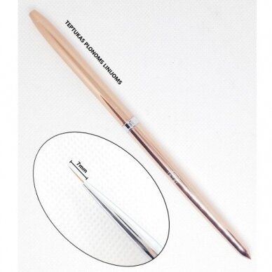 Teptukas plonoms linijoms Gel Brush Liner, 7mm 2