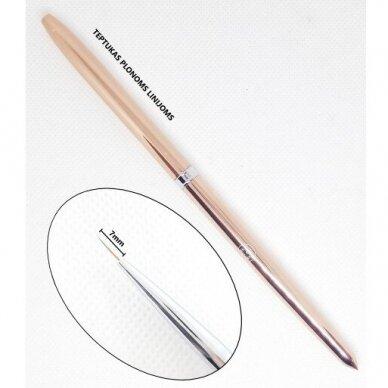 Teptukas plonoms linijoms Gel Brush Liner, 7mm 2