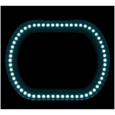 Universali lempa su lupa ELEGANTE 6029 60 LED SMD 5Dk ,baltos sp. 2