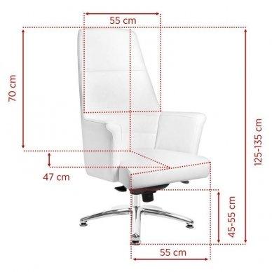 Universali meistro kėdė 167, baltos sp. 2