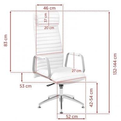Universali meistro kėdė 186, baltos sp. 2