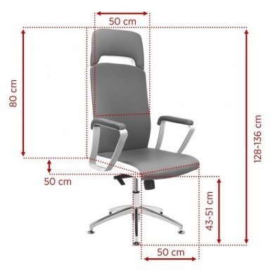 Universali meistro kėdė A1501-1, pilkos sp. 4