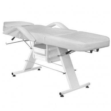Mechaninis kosmetologijos krėslas BASIC 202 su 2 stalčiais, pilkos sp. 2