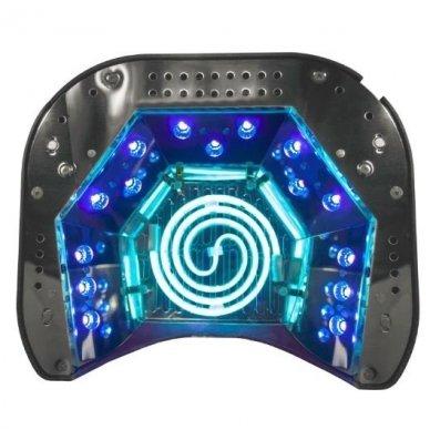 UV lempa nagams LED+CCFL 48W su laikmačiu ir sensoriumi, juodos sp. 3