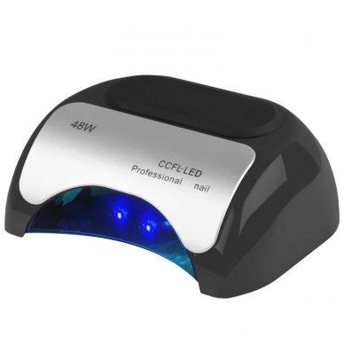UV lempa nagams LED+CCFL 48W su laikmačiu ir sensoriumi, juodos sp.