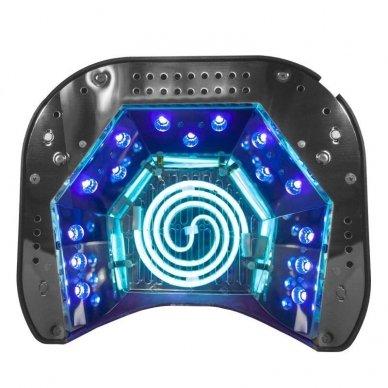 UV lempa nagams LED+CCFL 48W su laikmačiu ir sensoriumi, raudonos sp. 3