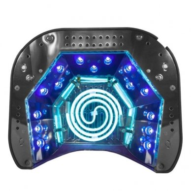 UV lempa nagams LED+CCFL 48W su laikmačiu ir sensoriumi, rožinės sp. 2