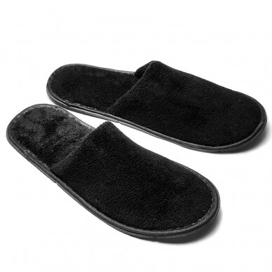 Uždaros šlepetės PRESTIGE BLACK, 29,5 cm