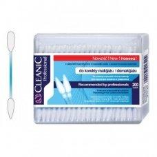 Kosmetiniai vatos pagaliukai Cleanic Professional, dėžutėje, 200 vnt.