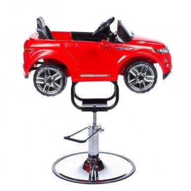Vaikiška kirpyklos kėdė RANGE ROVER, raudonos sp. 2