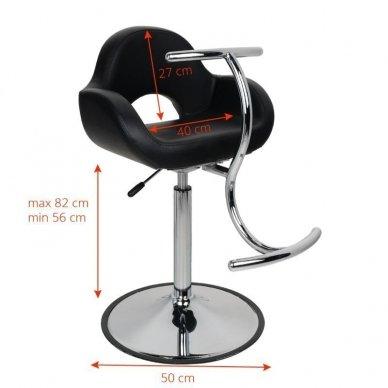 Vaikiška kirpyklos kėdutė, GABBIANO, juodos spalvos 2