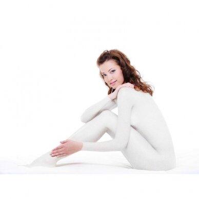 Vakuuminio masažo kombinezonas, baltos sp.