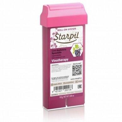 Vaškas depiliacijai praturtintas raudonojo vyno polifenolių Starpil, 110 ml 2