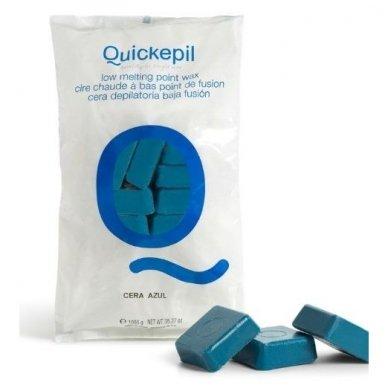 Vaškas depiliacijai mėlynas Quickepil, 1 kg