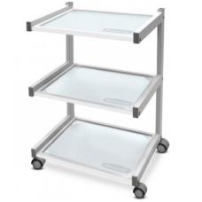 """Vežimėlis """"DP-6038"""" su 3 stiklinėmis lentynėlėmis."""