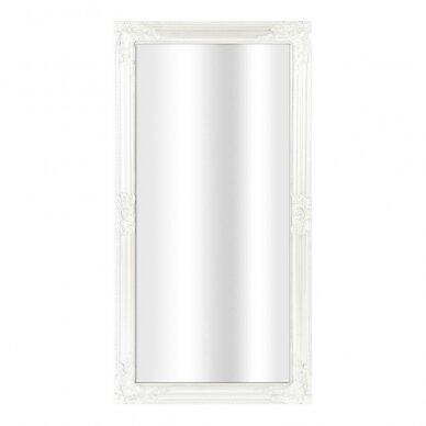 Veidrodis kirpykloms WHITE ANTIQUE, 60 x 120cm