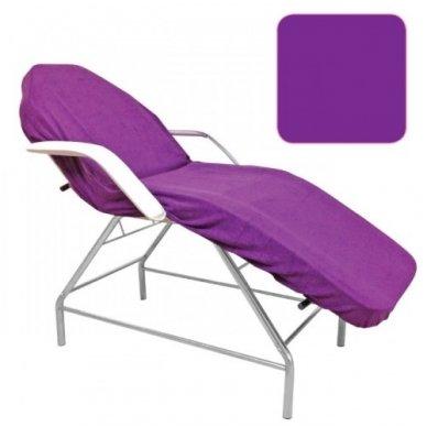 Veliūrinė paklodė su guma 100 x 215 cm, violetinės sp.