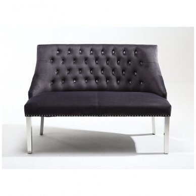 Veliūrinė salono laukiamojo sofa GRAFITAS 2