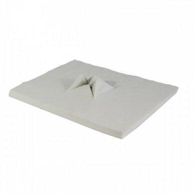 Vienkartinė paklodėlė masažo krėslo pagalvėlei 34x29cm, 100 vnt.iš neaustinės medžiagos